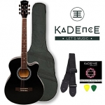 Kadence Frontier Series,Black Acoustic  Guitar  Combo (Bag,strap,strings and 3 picks)