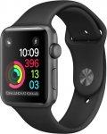 Apple Watch Series 1 - 42 mm Space Gray Aluminium Case with Black Sport Band  (Black Strap Medium)
