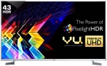 Vu 109cm (43 inch) Ultra HD (4K) LED Smart TV Just Rs.31999