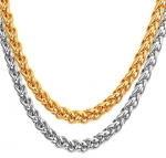 Meenaz Men Jewellery Valentine Silver Gold Rope Chain Combo Necklace for Men Husband Boys Boyfriend Gents Mens Chains for Pendants -CN134 23K Yellow Gold, Sterling Silver, Silver Plated Stainless Steel, Silver Chain