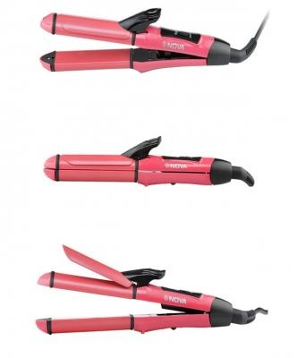 Nova NHS-800 Hair Straightener - Pink