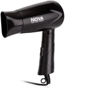 Nova Silky Shine 1200 W Hot And Cold Foldable NHP 8100 Hair Dryer(Black)